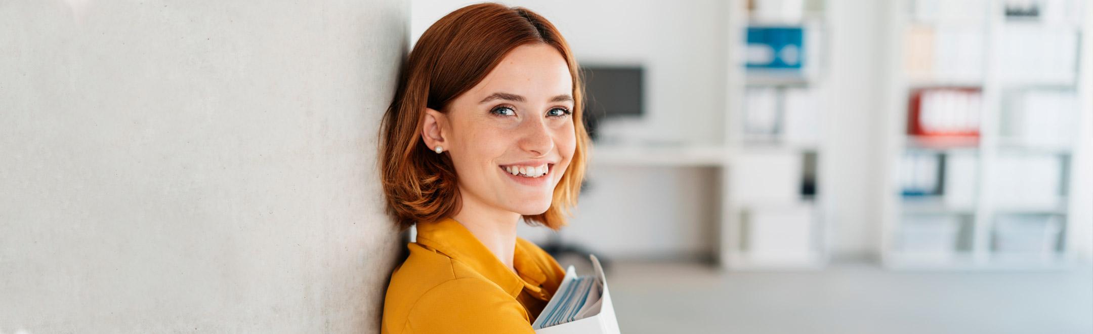 Frau, repräsentiert Gründer
